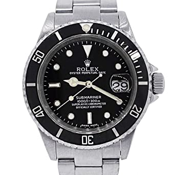 6b4eff734e1e Amazon.com  Rolex Submariner Automatic-self-Wind Male Watch 16610 ...
