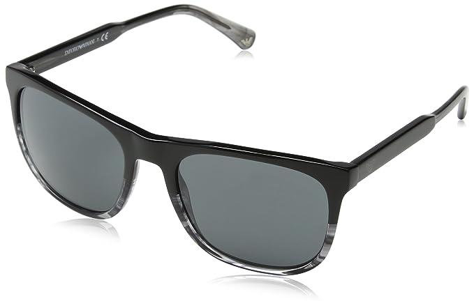 Emporio Armani EA4099 556687 Black Grey EA4099 Rectangle Sunglasses Lens  Catego be41b6ed95