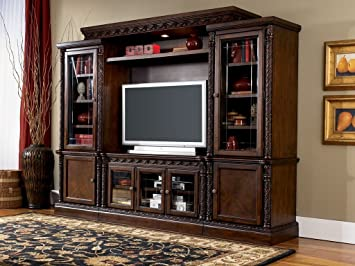 Amazoncom North Shore Entertainment Wall Unit Kitchen Dining