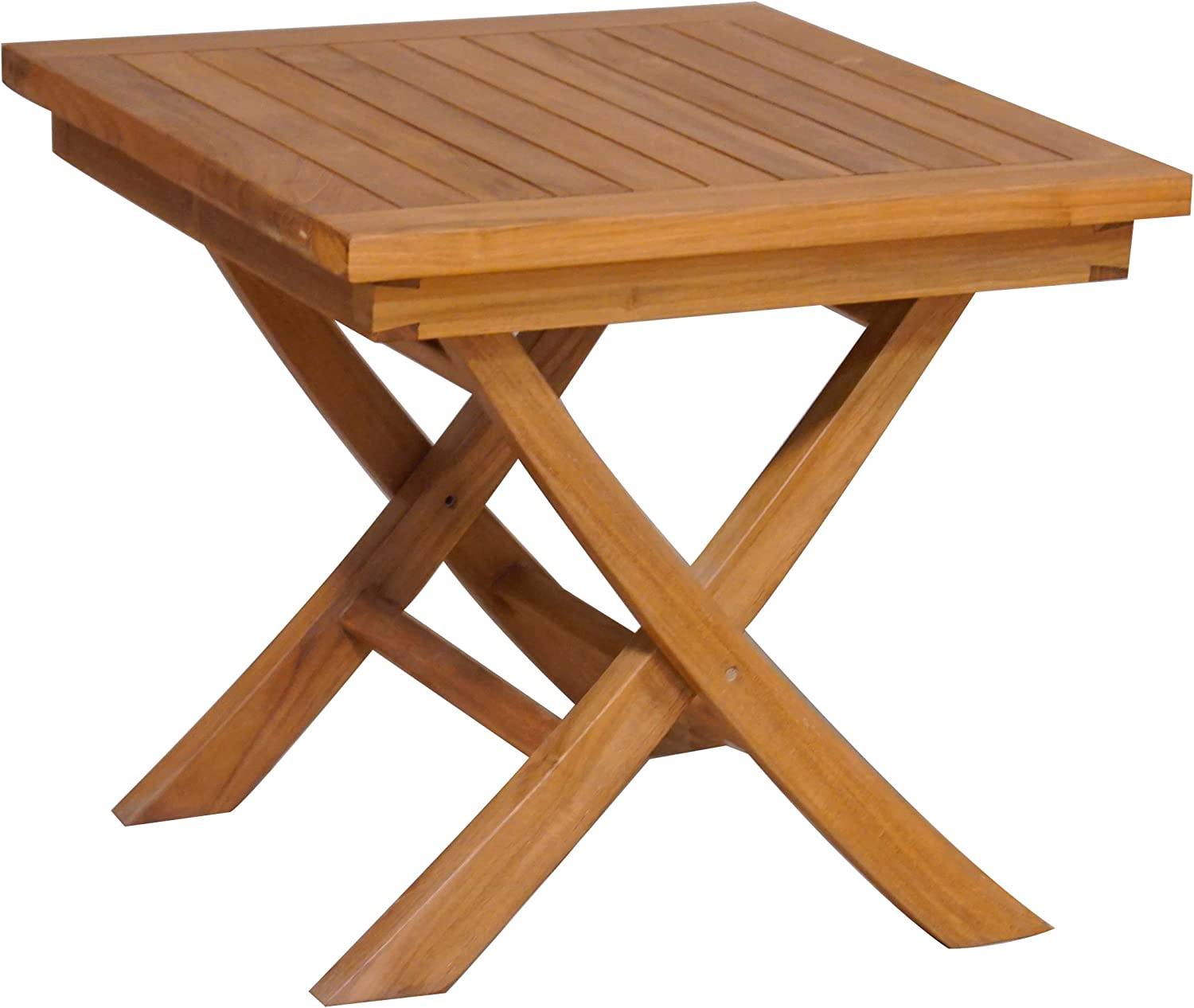 Teak Folding Side Table, Made from Solid A-Grade Teak Wood