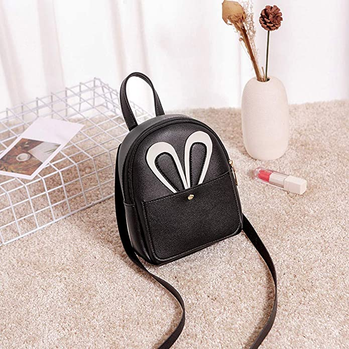 b1e12dfeb49f8 Bfmyxgs Stylish Bag for Women Girl Fashion Girl Pure Color Leather Student  School Bag Backpack Shoulder Bag Backpack Shoulder Bag Handbag Totes Coin  Bag ...