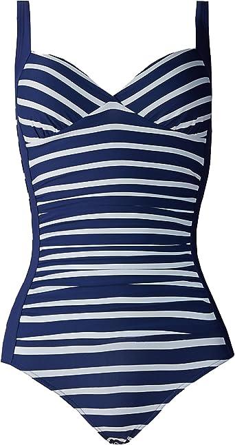 M/&S Marks 38 E Black  Plunge Non Padded Underwired Secret Slim Swimsuit BNwt
