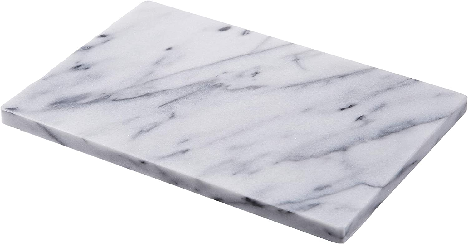 JEmarble Pastry Board 8x12 inch with No-Slip Rubber Feet for Stability