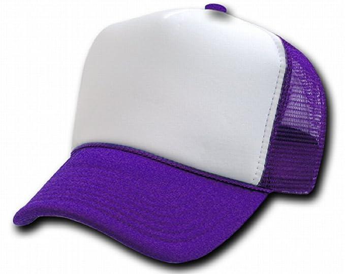 e1d22d33af2 TWO TONE TRUCKER SNAP BACK CAP PURPLE CAPS HATS at Amazon Women's ...