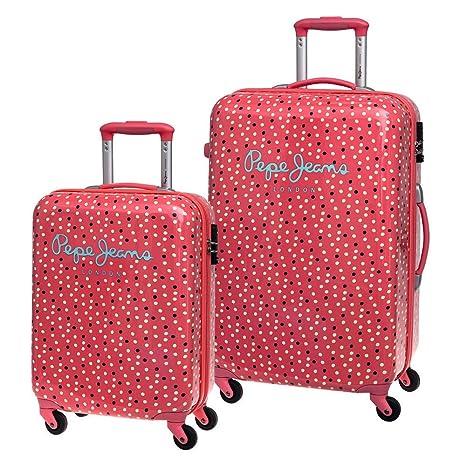 Pepe Jeans Set de Maletas, Diseño Lunares, 64 Lt, Color Rosa ...