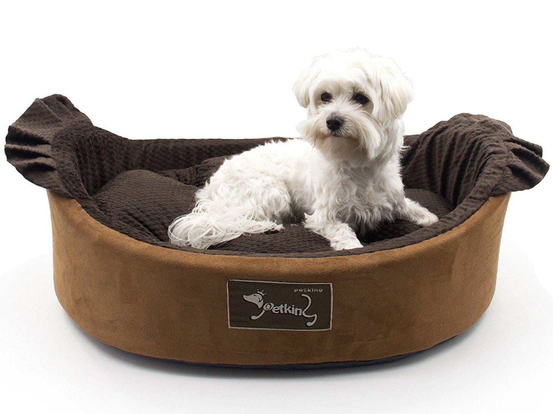 Petking ®, Cama para Perro y Gato, Cuna para Perro y Gato, Cesta para Perro y Gato, Marrón, S53x48x17cm: Amazon.es: Productos para mascotas