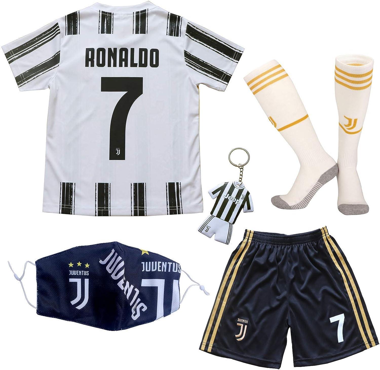 BIRDBOX Youth Sportswear No 7 Kids Home Soccer Jersey/Shorts Bag Keychain Football Socks Set
