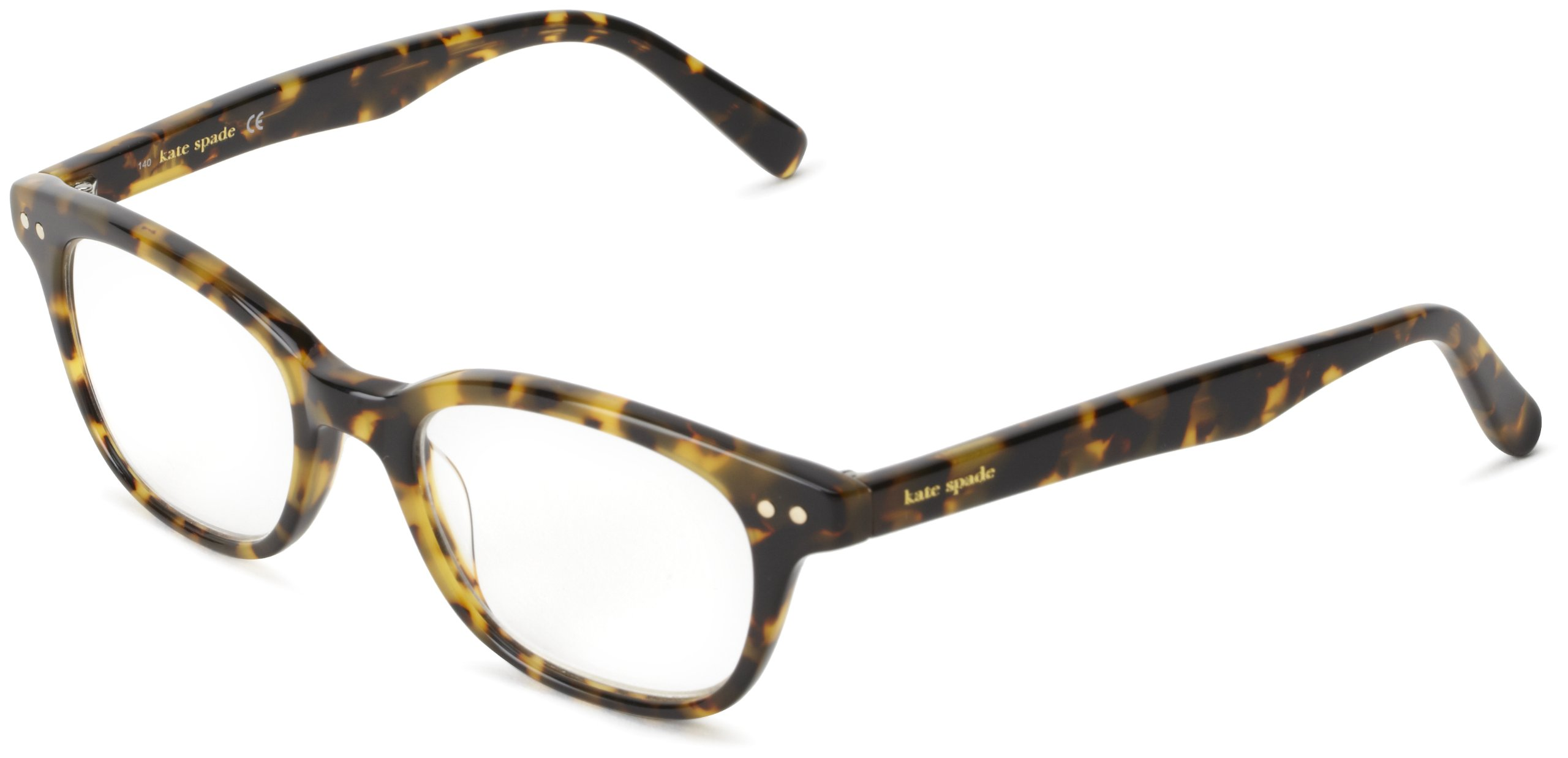Kate Spade Women's Rebec Cat Eye Reading Glasses, Tokyo Tortoise, 49 mm (1.5 x Magnification Strength)