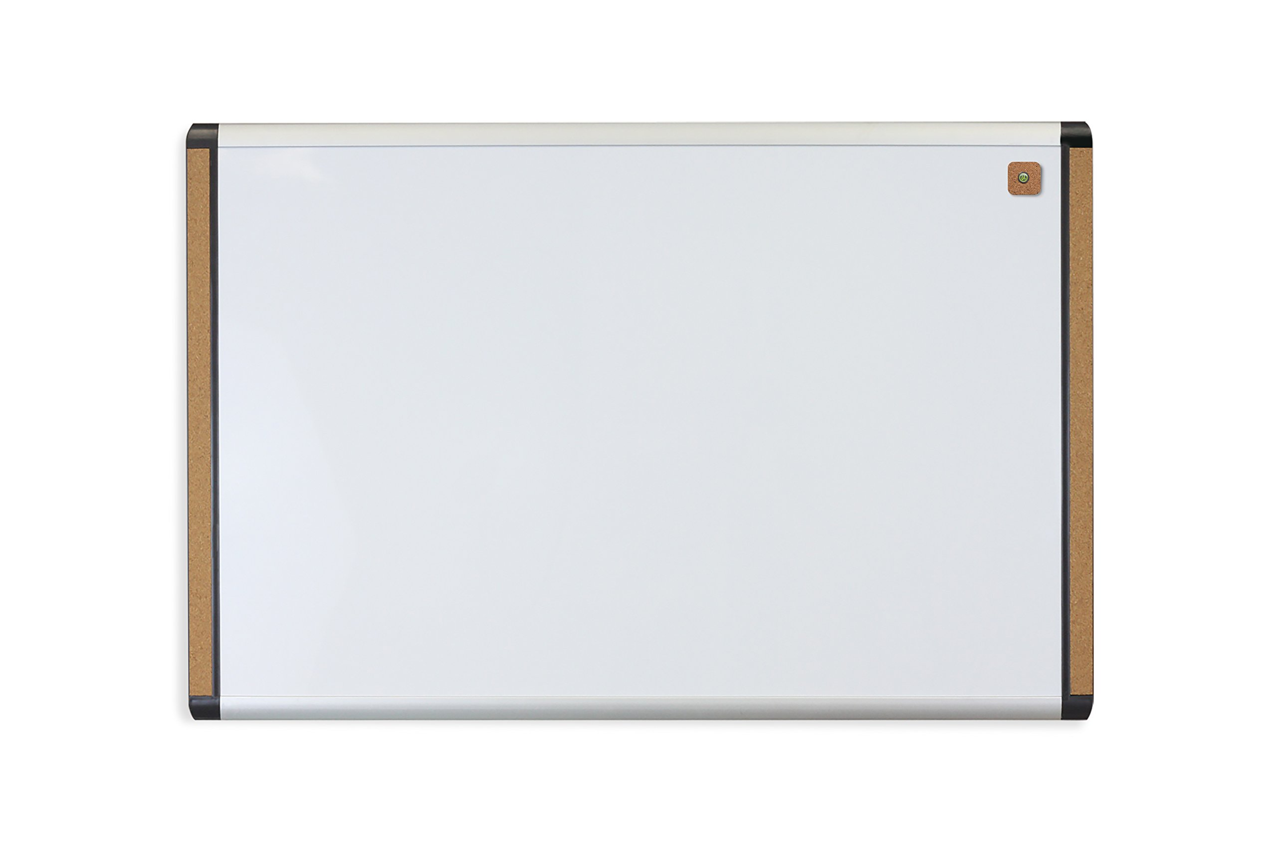 U Brands Pin-It Magnetic Dry Erase Board, 35 x 23 Inches, Black and Grey Frame