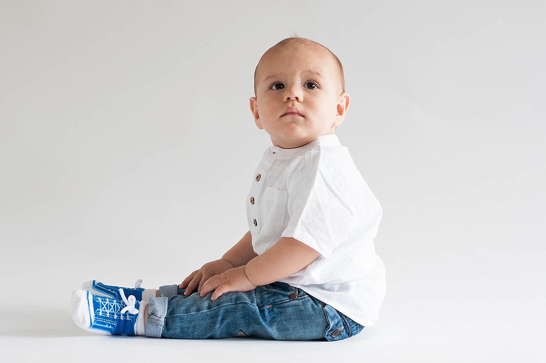 Baby Emporio 6 pares de calcetines para beb/é ni/ño con dise/ño de zapatos-suelas antideslizantes regalo reci/én nacido algod/ón