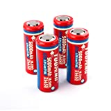 TUOFENG 26650 battery, 4 pack of 5000mAh 3.7 Volt