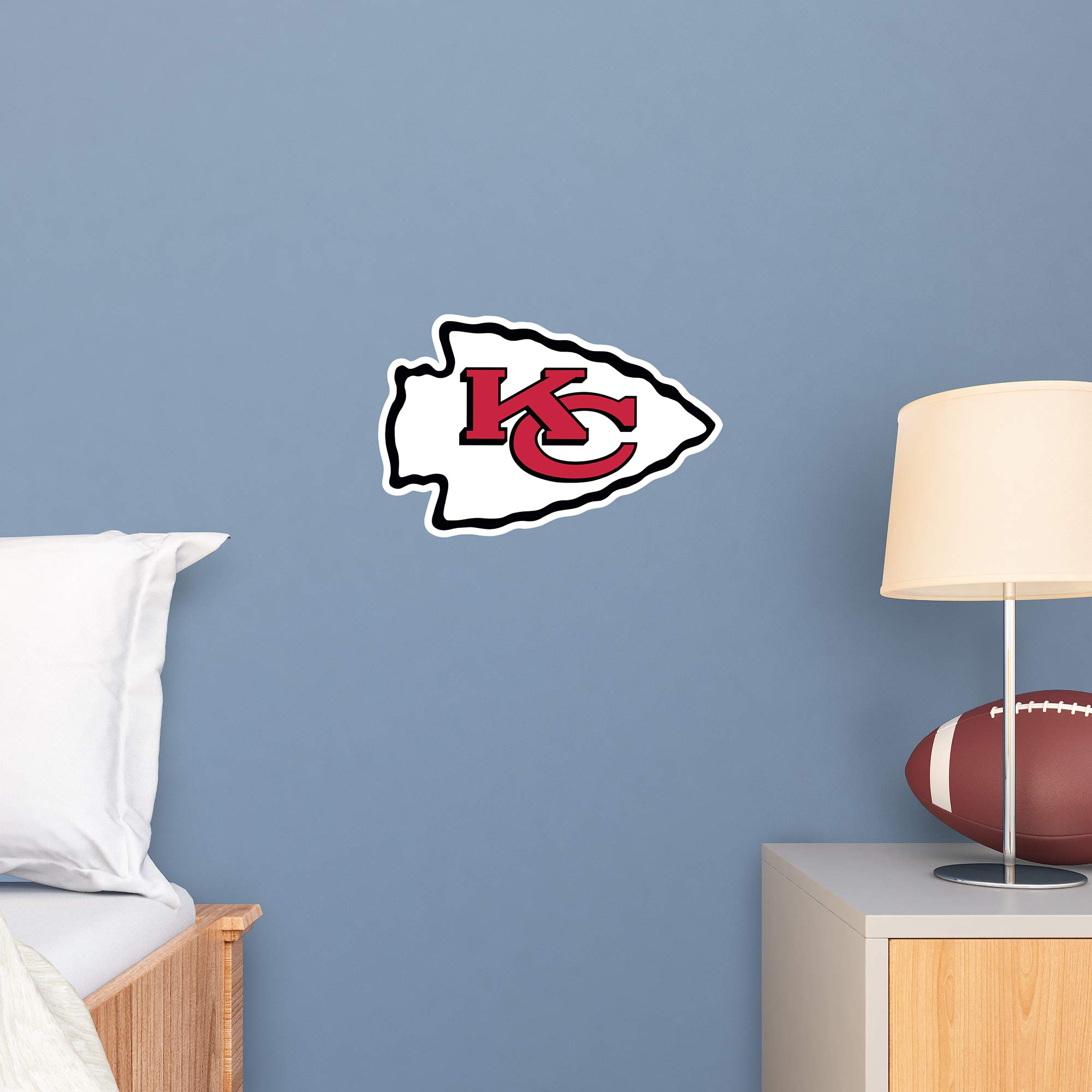 Fathead NFL Kansas City Chiefs - Logo Teammate- Officially Licensed Removable Wall Decal, Multicolor, Big - 89-03356 by FATHEAD