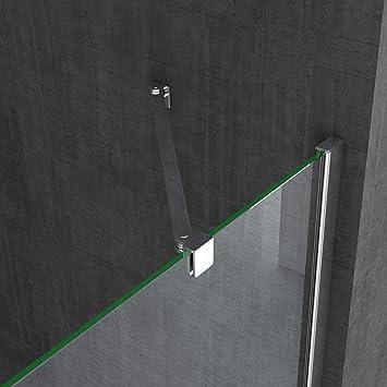 Sogood: Cabina de ducha de esquina Rav28MS 70x140x195cm mampara de vidrio de seguridad templado transparente con franjas de vidrio esmerilado | Incl. revestimiento - Nano: Amazon.es: Bricolaje y herramientas