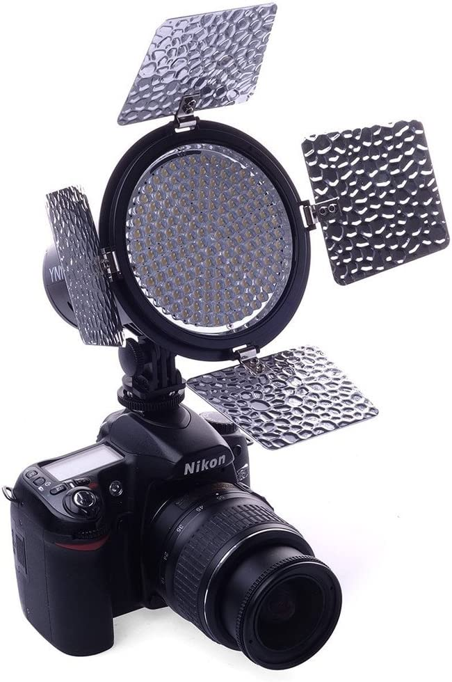 YONGNUO YN216 YN-216 LED Video Light with 5600K Color Temperature and 4 Color Plates for Canon Nikon DSLR Cameras