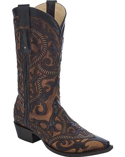 bfa43ad9aa1 Amazon.com | CORRAL Men's Embroidered Cowboy Boot Snip Toe - G1301 ...