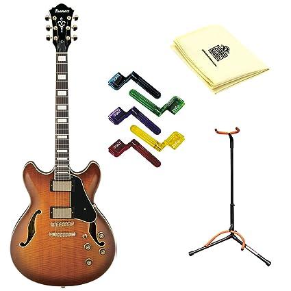 Ibanez Artcore AS93 guitarra eléctrica en violín SUNBURST con gamuza ...