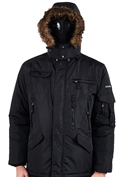 Mens Location Hunter Military Parka Jacket Waterproof Padded ...