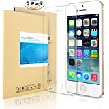 iPhone SE Pellicola Protettiva, PULESEN® [2-PACK] iPhone SE 5S 5 pellicola vetro temperato [Protezione Antigraffi, Ultra-Clear, Ultra resistente in] Protezione Protettore