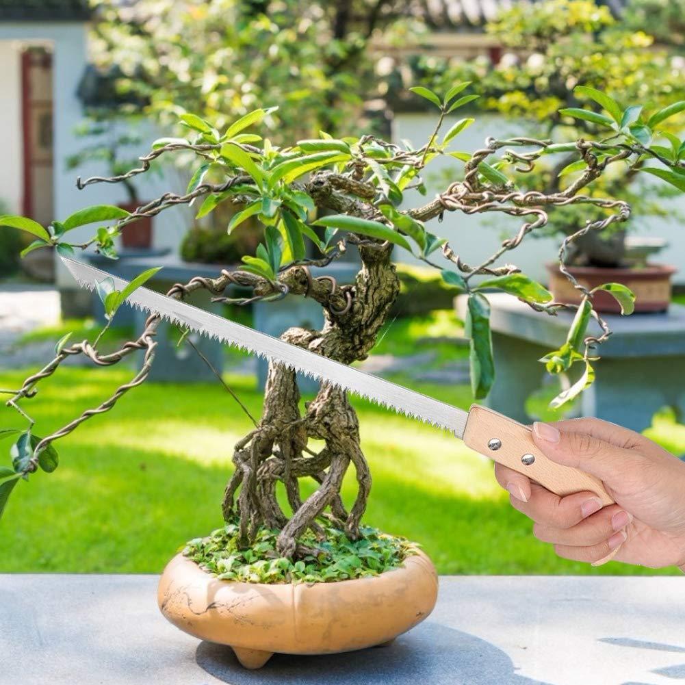 Sierra de bons/ái sierra de bons/ái Sierra de /árbol Estrecho 325 mm Sierra de /árbol de hoja estrecha Sierra de mano Sierra de diente peque/ño Herramientas de jard/ín