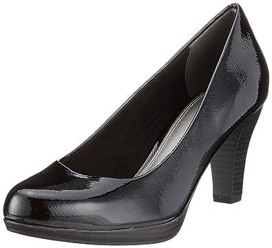 Marco Tozzi 22409, Zapatos de Tacón para Mujer, Negro (Black Patent), 40 EU