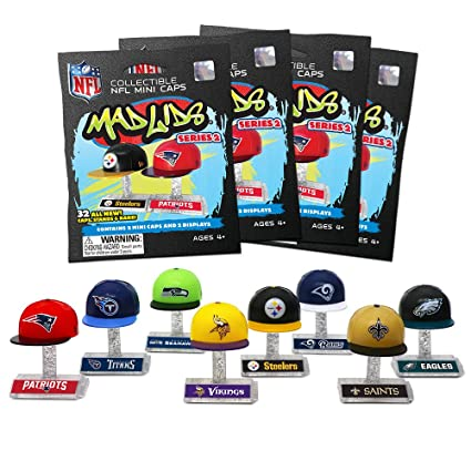 89a3120612944 Amazon.com  Party Animal Mad Lids - NFL Series 2 - BLIND PACKS (4 Pack  Lot)  Toys   Games