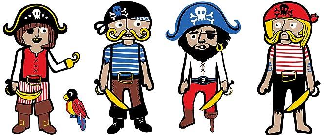 Amazon.com: Wall Pops wpb0606 Argh Piratas Blox pared ...