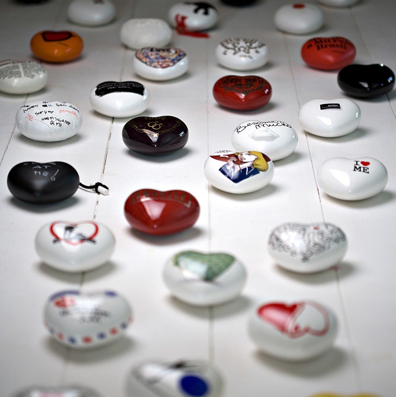 Extragifts in Ceramica a Forma di Cuore con Messaggio/ /Diamante
