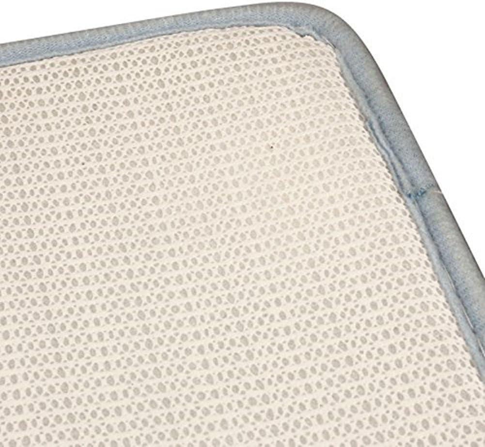 Laat Cachemire antideslizante 40 x 60 cm algod/ón de memoria Alfombra de ba/ño beige