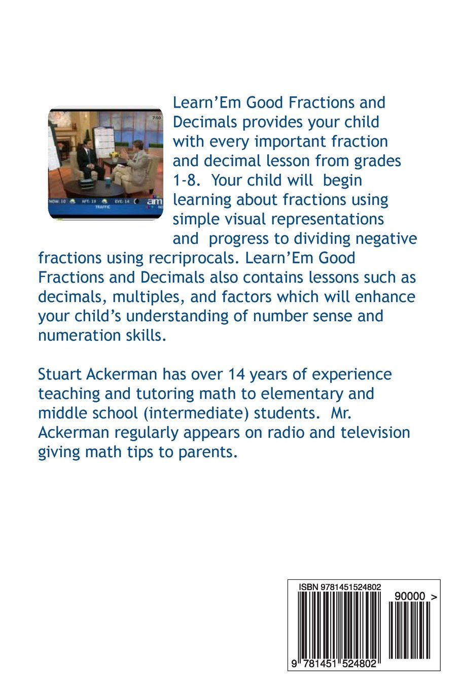Amazon.com: Learn\'Em Good -Fractions and Decimals-: Easy to Use ...