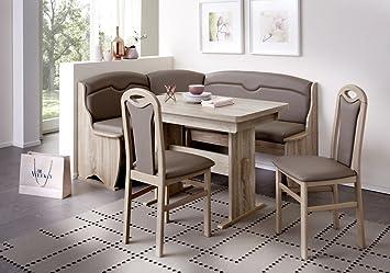 Eckbankgruppe U0027Wolfiu0027 Essgruppe 170 X 130 X 90 2 Stühle Modern Eckbank  Küchentisch Wangentisch4