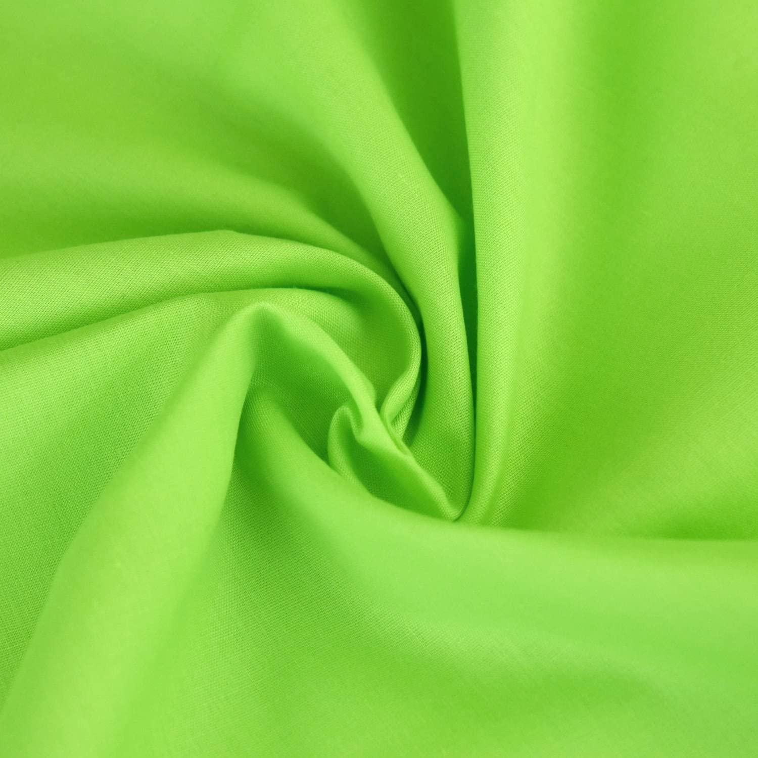 Plain Polycotton Fabric Material Poly Cotton Dress Craft Material 45-112 cm Wide 60 Colours Hot Pink, Metre