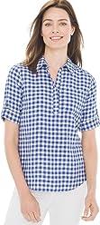 Chico's Women's No-Iron Linen Pocket Pullover Shirt
