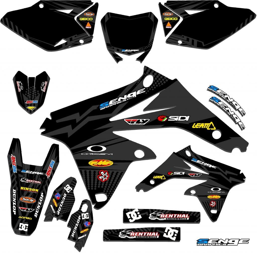 Senge Graphics kit compatible with Suzuki 2001-2014 RM 125//250 Space Kadet Complete graphics kit.