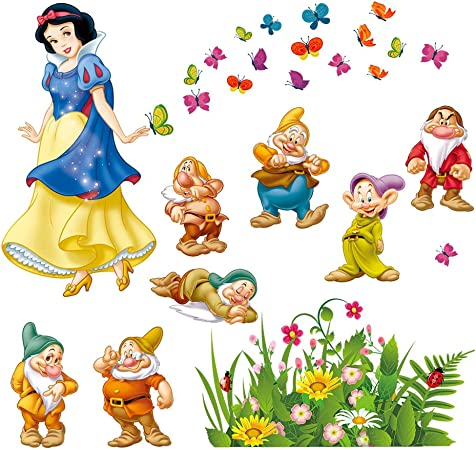 Vinilo pegatina sticker de decoracion infantil Disney Blancanieves