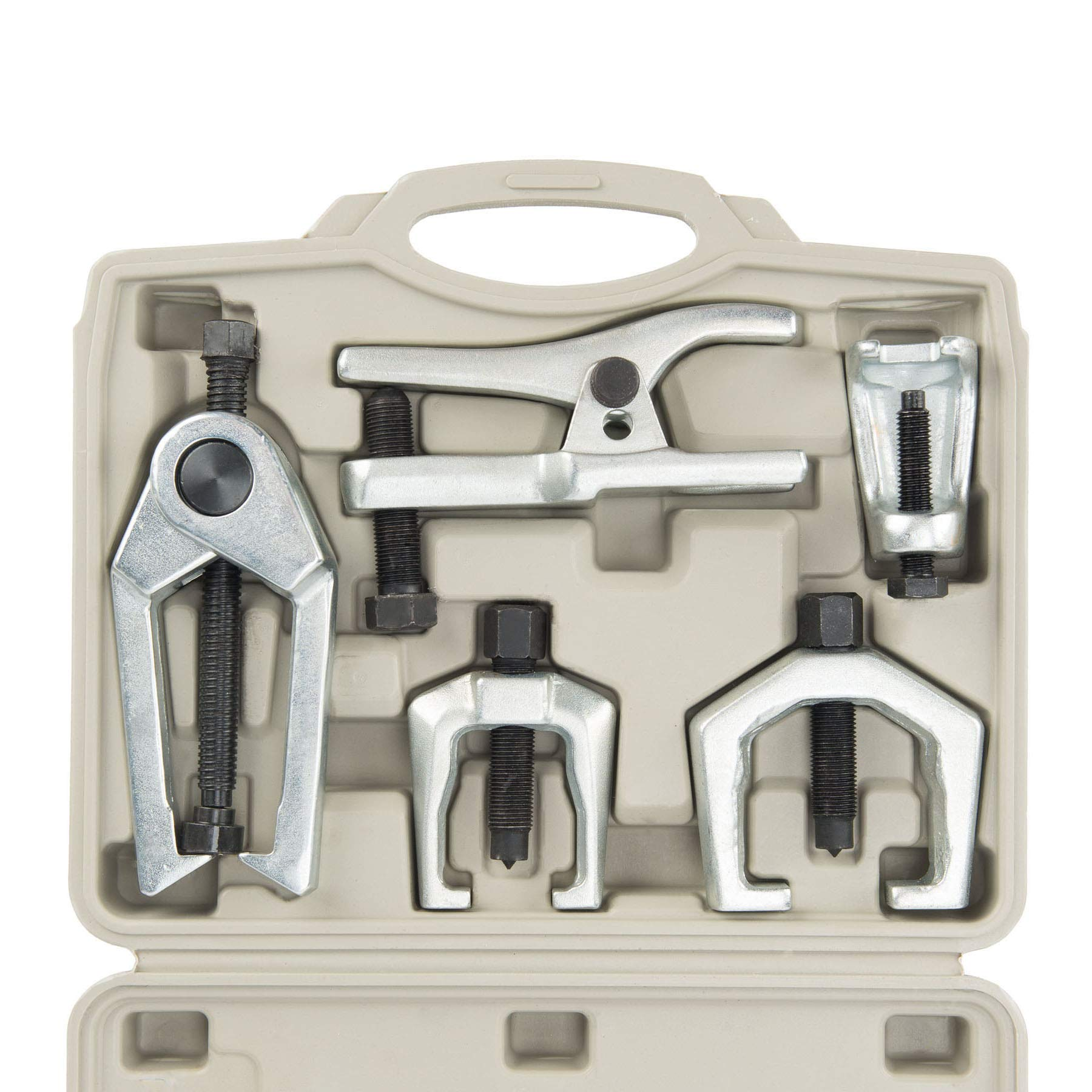 OrionMotorTech 5-in-1 Ball Joint Separator Tie Rod End Remover Pitman Arm Puller Service Splitter Removal Tool Kit