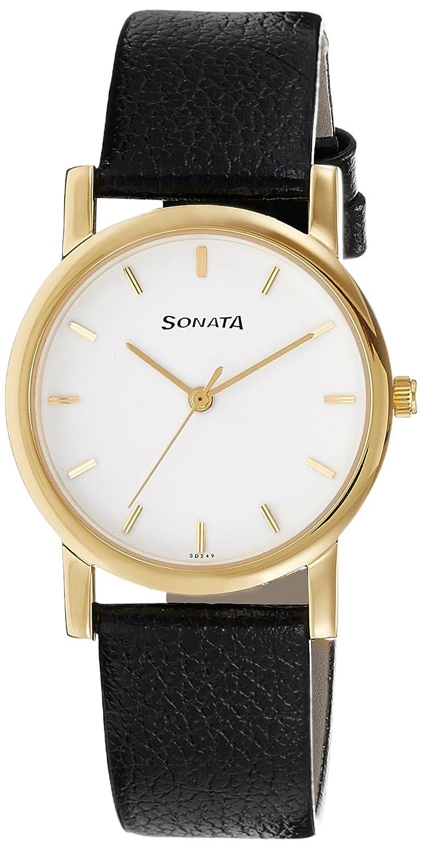 Sonata Analog White Dial Men's Watch
