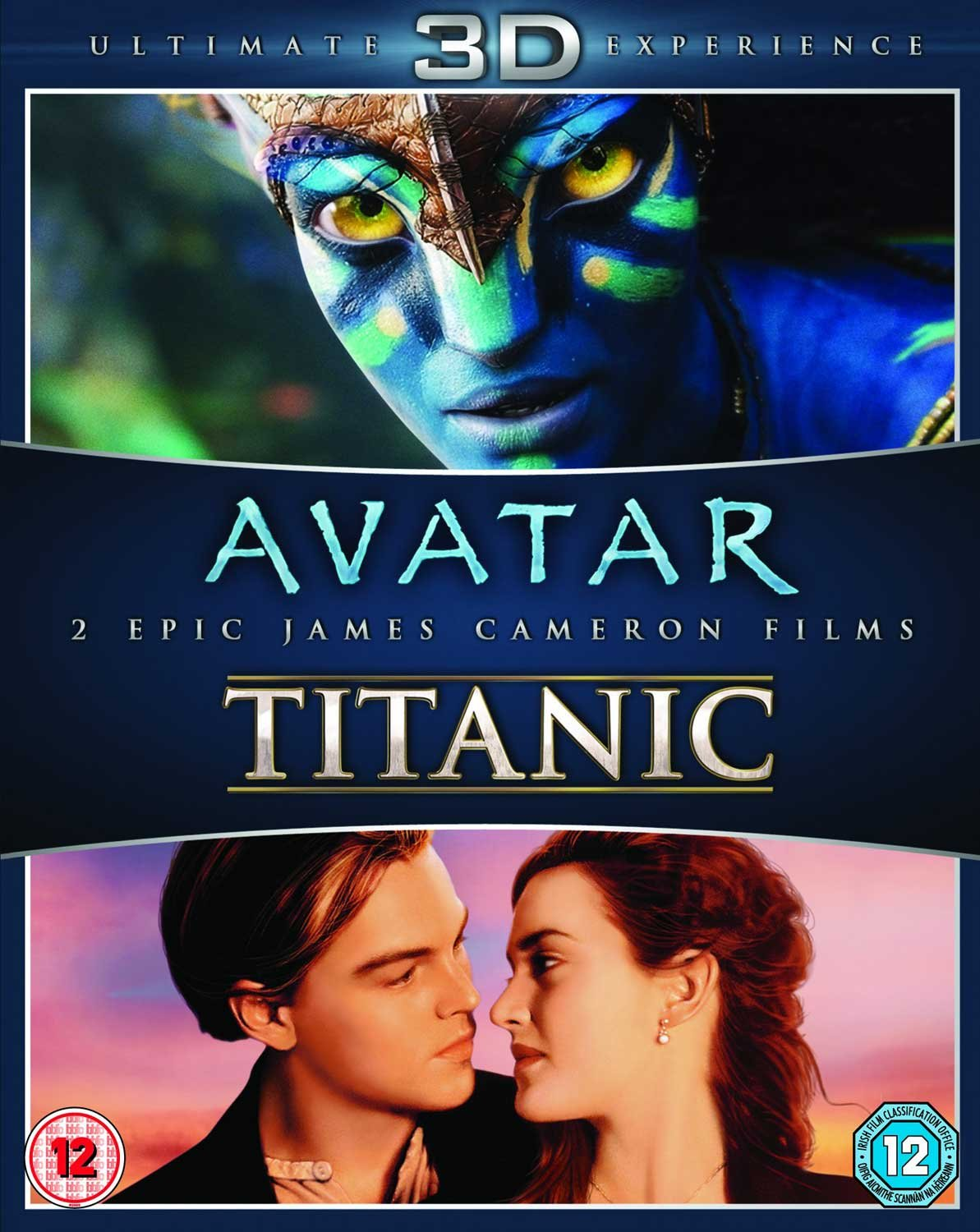 com james cameron s avatar titanic blu ray 3d double  com james cameron s avatar titanic blu ray 3d double pack kate winslet leonardo dicapreo james cameron movies tv
