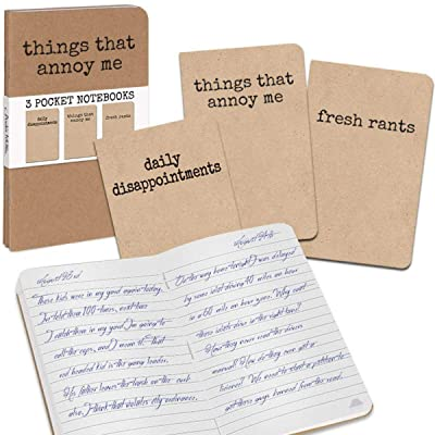Archie McPhee 3 Grump Notebooks