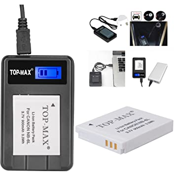 TOPMAX NB6L NB6LH Battery Rapid USB Charger with Amazonco