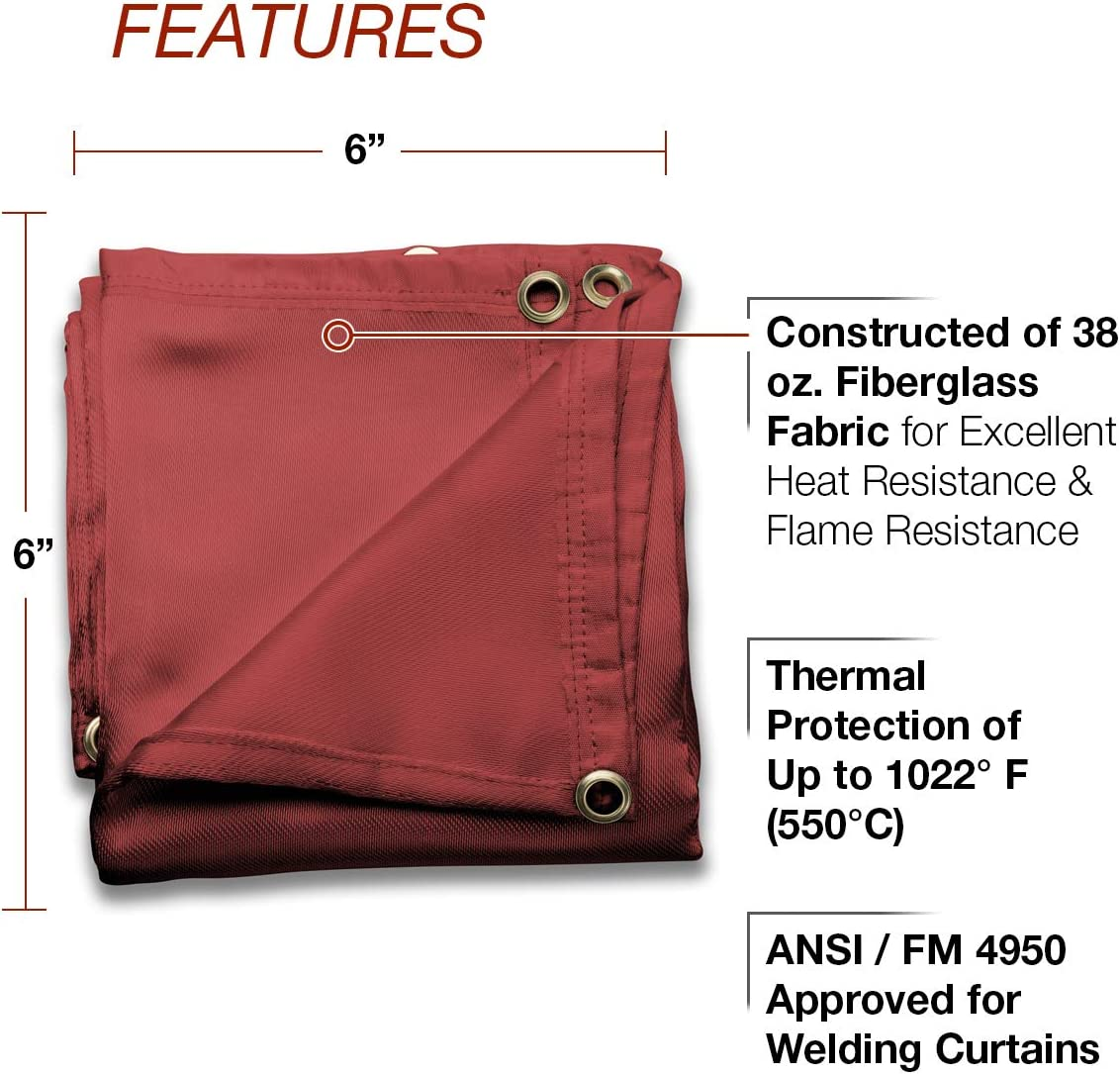 Lincoln 1022F° Welding Curtain 6/' x 6/' Model K3252-1