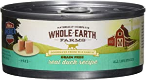 Whole Earth Farms 295254 Grain-Free Real Duck Recipe Pate Wet Cat Food, One Size