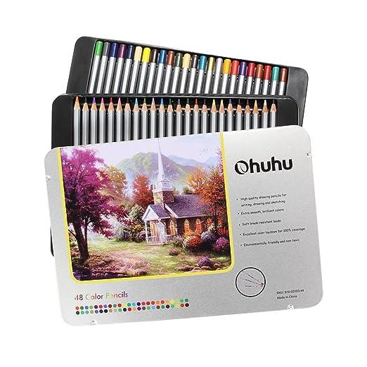 94 opinioni per [Confezione Aggiornata]Ohuhu® 48-Colore Matite Colorate per Pittura Disegno
