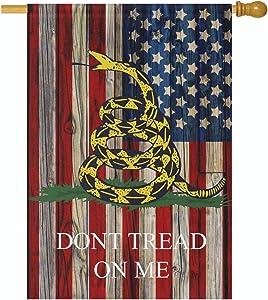 Joysay Double Sided Garden Flag - Dont Tread Me American Flag USA Vertical Flag House Yard Decor Banner 12 x 18 Inch