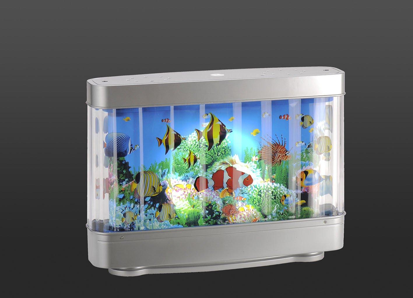Lámpara LED de niños Acuario Efecto de peces - Lámpara LED de estado de ánimo lámpara decorativa Proyección giratorio 180 lúmenes lámpara decorativa ...