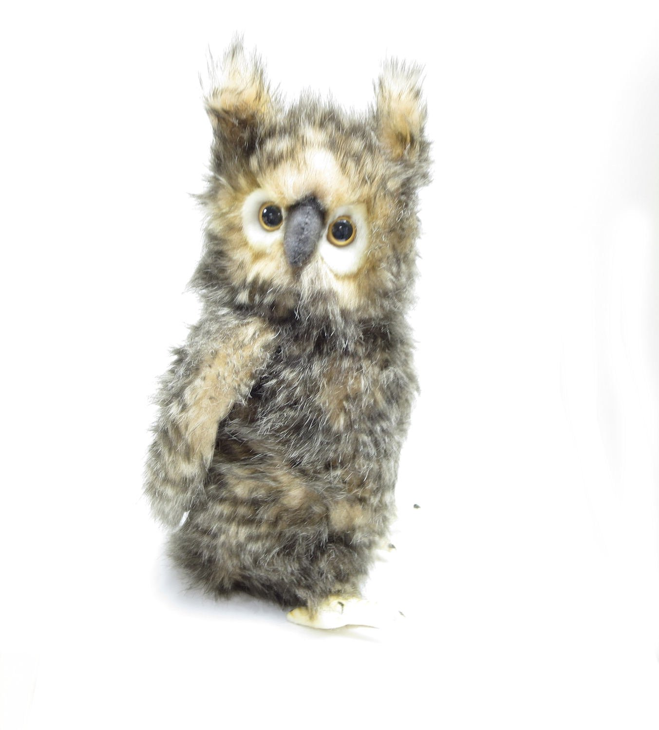 Hansa Brown Owl with Moving Head Plush Toy 13