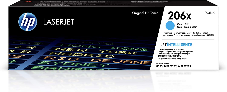 HP 206X | Toner Cartridge | Cyan | W2111X | High Yield