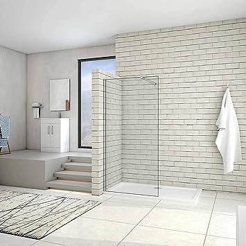 AICA - Mampara de ducha de cristal antical y de seguridad (10 mm ...