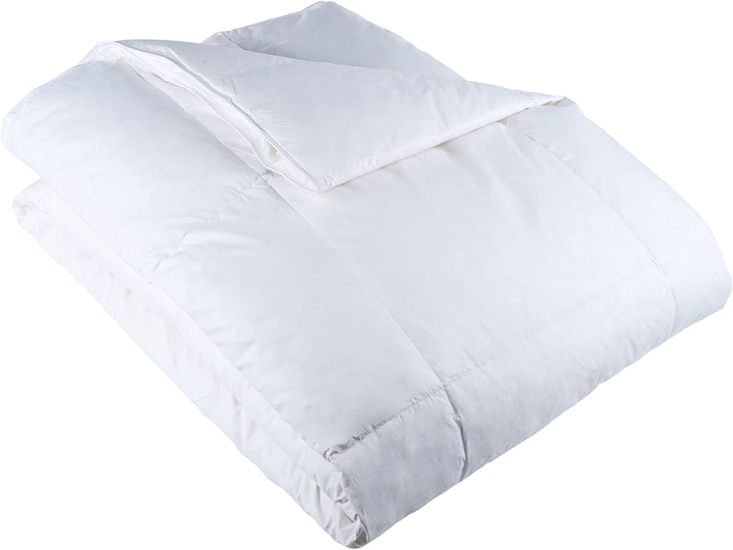 Lavish Home Full/Queen Comforter, Ultra-Soft White Goose Down Alternative Comforter, Hypo-Allergenic, Quilted Box Stitched, All Season Comforter