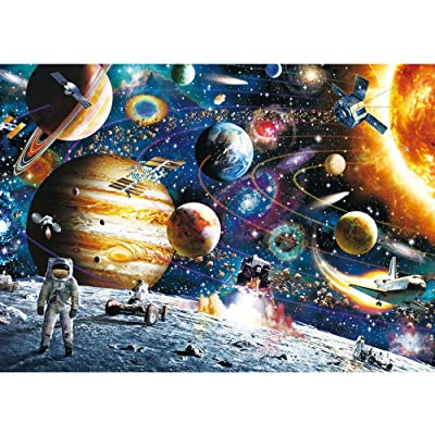 Space Puzzles for Adults Jigsaw Puzzles 1000 Pieces for Adults Kids– Planets in Space Jigsaw Puzzle Game Toys Gift: Toys & Games