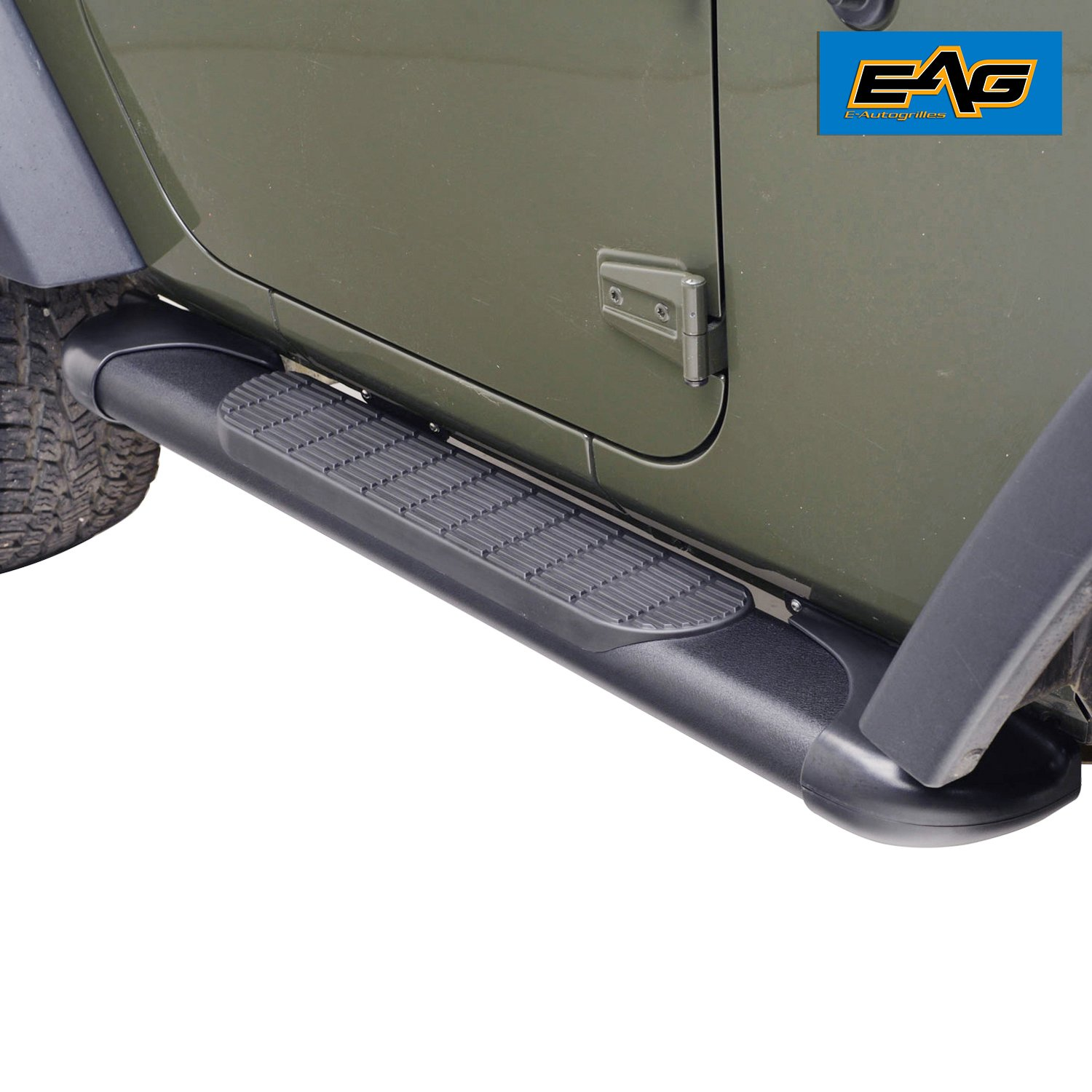 EAG JK 2 Door Steel Running Boards for 11-18 Jeep Wrangler (Nerf Bars | Side Steps | Side Bars) E-Autogrilles